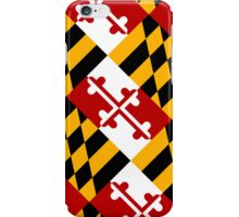 Smartphone Case - State Flag of Maryland  - Diagonal iPhone Case/Skin