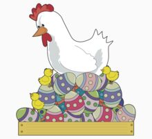 Chicken Easter Eggs Kids Clothes