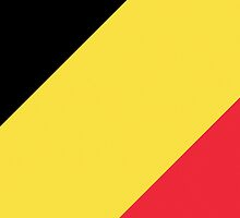 Smartphone Case - Flag of Belgium  - Diagonal by Mark Podger
