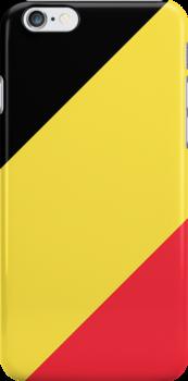 Smartphone Case - Flag of Belgium  - Diagonal by Mark Podger