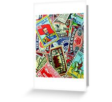 Vintage matchbox Covers Random Collage  Greeting Card
