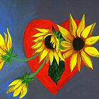 Full Expression of God's Love Sunflowers by Anne Gitto