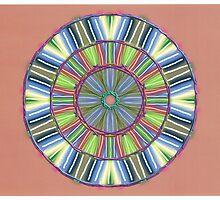 Random Psychedelic Kaleidoscope 2 by Jennifer Mosher