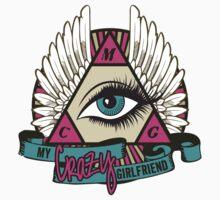 My Crazy Girlfriend Triangle Logo Tee by MyCrazyGfMusic