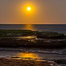Moon and Saturn over Turimetta beach NSW by Doug Cliff