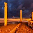 Israel, coastline in Haifa by Birgit Van den Broeck