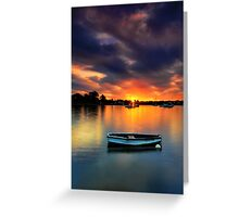 Floating Sunset # 2 Greeting Card