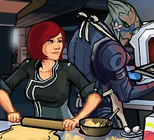 Mass Effect Cartoon - Cookie Time by GHaskell