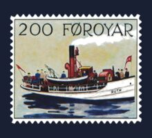 Faroe Islands Tug Boat Postage Stamp by TravelShop