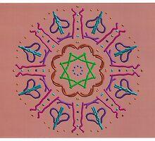 Random Psychedelic Kaleidoscope 4 by Jennifer Mosher