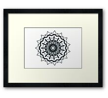 Metallic blue-grey on white Picasso Kalaeidoscope Framed Print