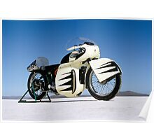 Triumph Thunderbird on the salt Poster