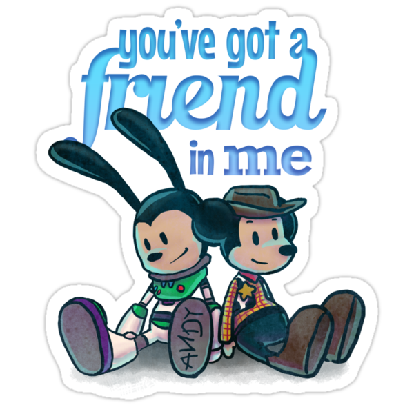 You've Got A Friend In Me - Mickey Mouse and Oswald The Lucky Rabbit as Woody and Buzz Lightyear by V Bell