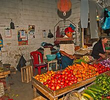 Vegetables at the Mercado - Playas, Ecuador by Paul Wolf