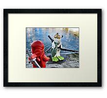 Ninja Fishing Framed Print