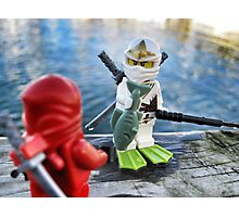 Ninja Fishing Photographic Print
