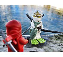 Ninja Fishing Photographic Print