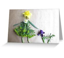 Daffodil with her scottie dog, Iris Greeting Card