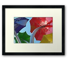 Sprouting Bumbershoots Framed Print