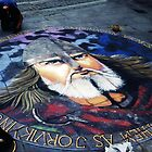 Viking - Chalk Art - York, UK by Marilyn Harris