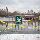 New York, Winter, Danger Sign.  by sallyrose1