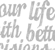 Parks & Recreation - [Jerry Grey] Can You Photoshop Your Life With Better Decisions? - Typography quote Sticker