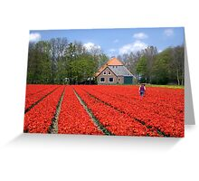 The Tulip Farmer Greeting Card