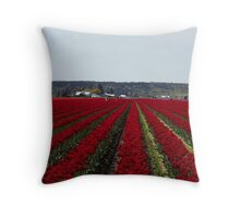 """RED for """"Joy"""" - Jump'n for Joy in the Tulip Patch! Throw Pillow"""