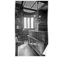 John Rylands Library (Black and White) Poster