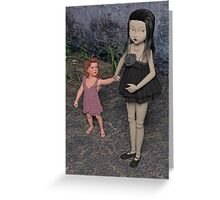The Doll and Her Child Greeting Card