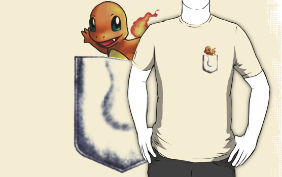Pocket Charmander by crazyvicsta