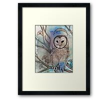 Crescent Crowned and White of Feather Framed Print