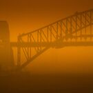 Sydney Harbour Bridge engulfed in a Dust Storm by Jane  Earle Photography