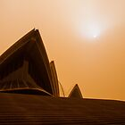 Sydney Opera House engulfed in a Dust Storm by Jane  Earle Photography