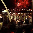 fireworks sparks by Fledermaus