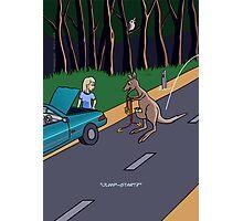 Kangaroo Jump-start Photographic Print