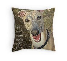 """When Your Smiling"" Throw Pillow"