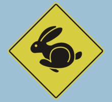 Rabbit Crossing Traffic Sign 2 by GET-THE-CAR