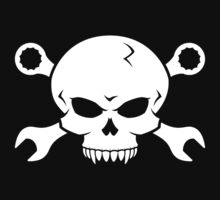 Skull 'n' Tools - Screw Pirate 2 (white) by GET-THE-CAR