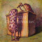 Peanut with Court Case by Cindy Schnackel