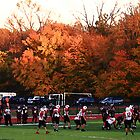 "Autumn Football with ""Dry Brush"" Effect by Frank Romeo"