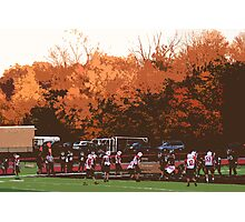 """Autumn Football with """"Cutout"""" Effect Photographic Print"""