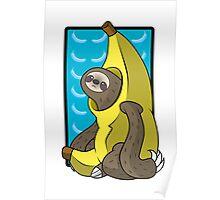 Banana Sloth Poster