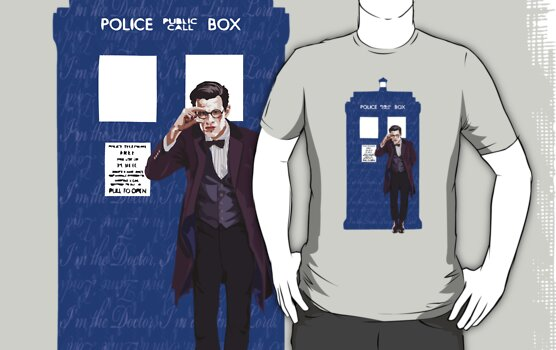 The Doctor and TARDIS by chaitea4