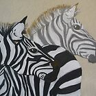 Two's Company (zebras together) by FrostClayton