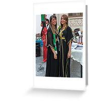 Algerian Traditional Fashion Greeting Card