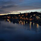 River Dee as night falls by Designer023