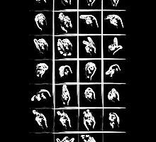 A to Z // White on Black by schiggityschway
