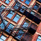 Red bricks facade by Debellez