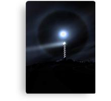 Moon Halo Over Bunbury lighthouse  Canvas Print
